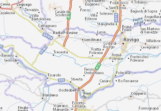 Cartina Dell Italia Rovigo.Mappa Michelin San Bellino Pinatina Di San Bellino Viamichelin