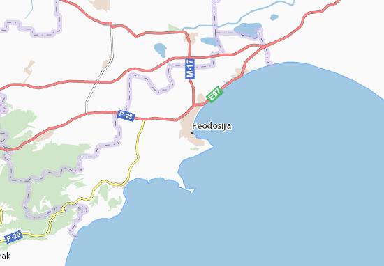 Feodosija Map