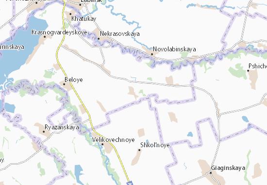 Kaart Plattegrond Bol'shesidorovskoye