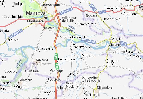 San Benedetto Po Map