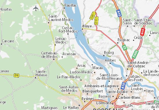 Carte Bordeaux Margaux.Carte Detaillee Margaux Plan Margaux Viamichelin