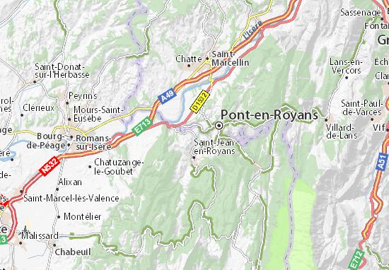 map of saint thomas en royans detailed map of saint thomas en royans