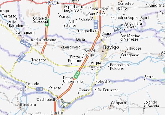 Costa di Rovigo Map