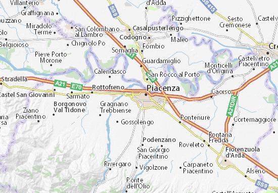 Cartina It.Mappa Michelin Piacenza Pinatina Di Piacenza Viamichelin