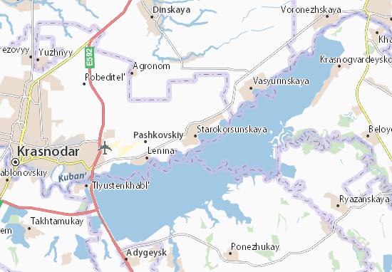 Kaart Plattegrond Starokorsunskaya