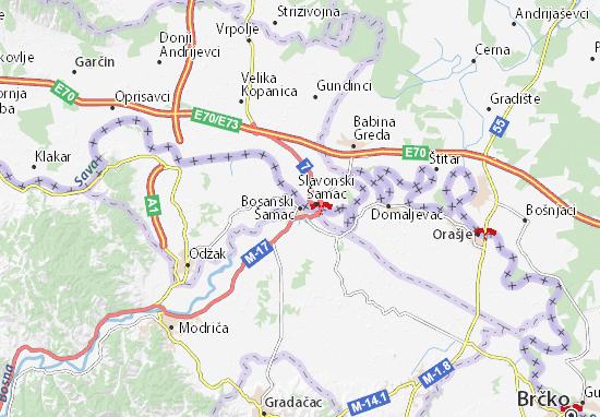 Carte-Plan Bosanski Šamac