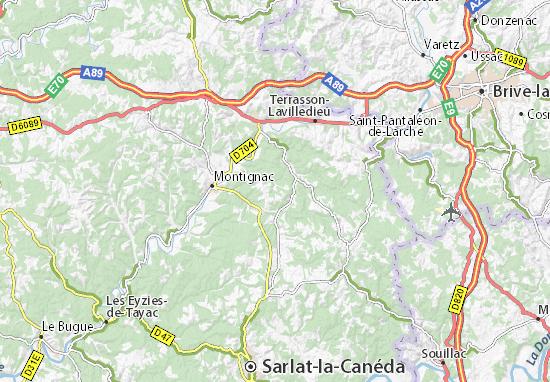 Carte-Plan Saint-Amand-de-Coly