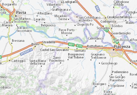 Mappe-Piantine Castel San Giovanni