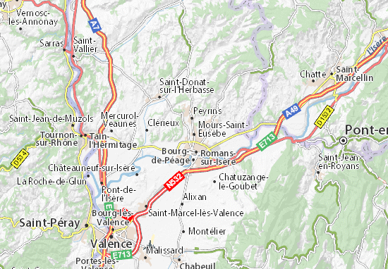 Mours-Saint-Eusèbe Map