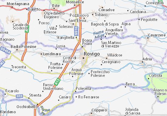 Karte Stadtplan Rovigo