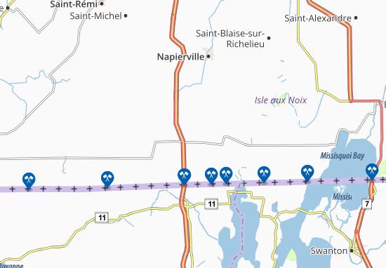 Map of saint bernard de lacolle michelin saint bernard for Viamichelin quebec