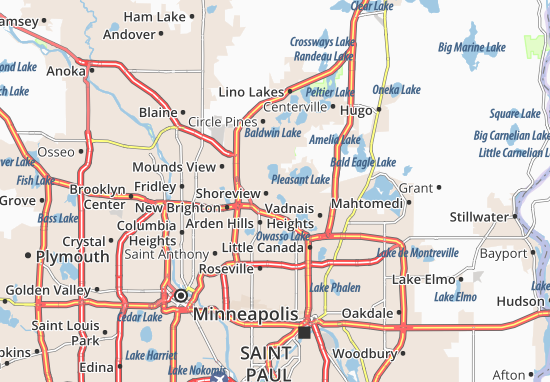 Shoreview Map