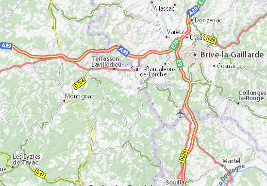 Map of La Dornac Michelin La Dornac map ViaMichelin – Map Of La Tourist Attractions