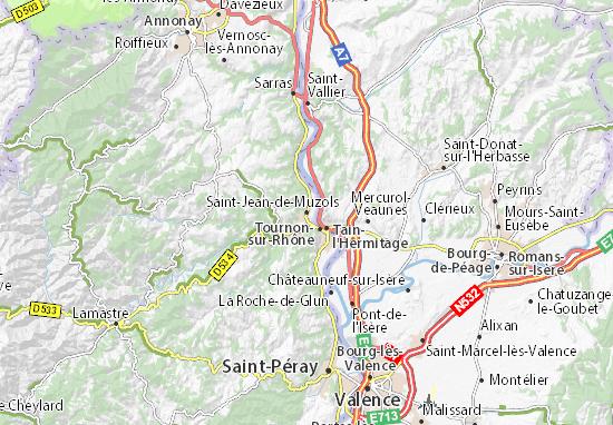 Carte-Plan Saint-Jean-de-Muzols