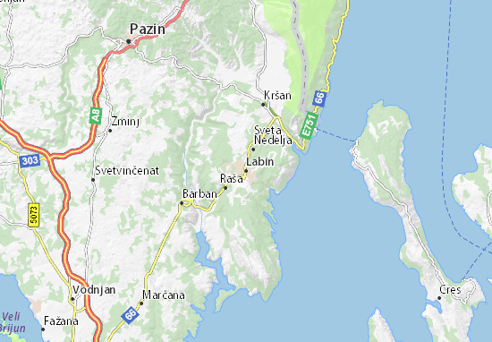 Labin Map: Detailed maps for the city of Labin - ViaMichelin