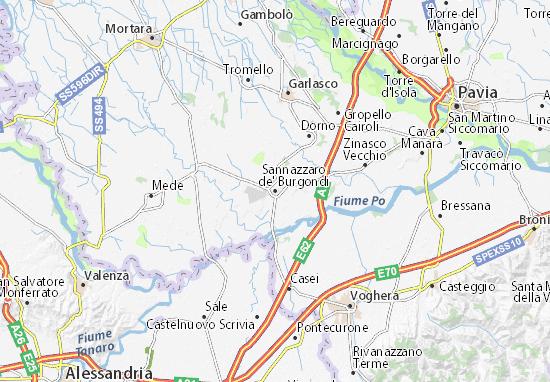 Carte-Plan Sannazzaro de' Burgondi