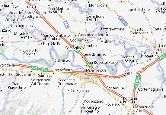Karte Stadtplan Guardamiglio