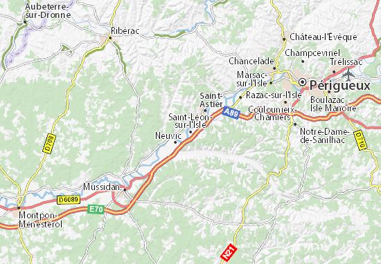 Saint-Léon-sur-l'Isle Map