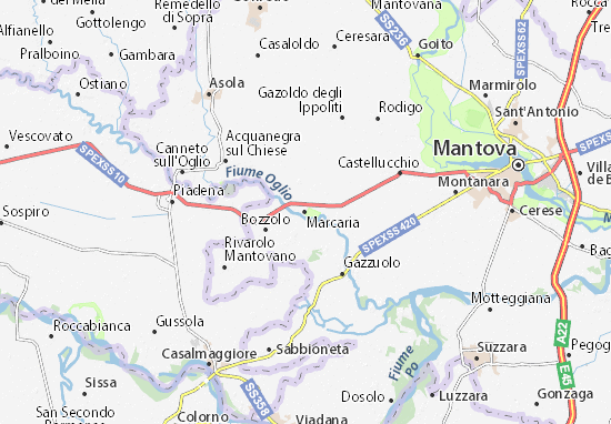 Marcaria Map