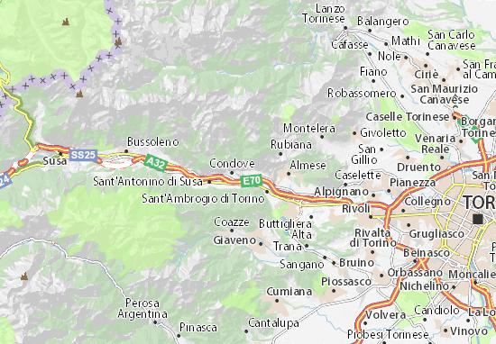 Caprie Map