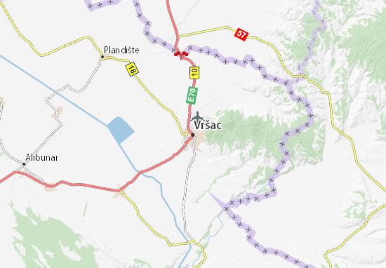 Vršac Map