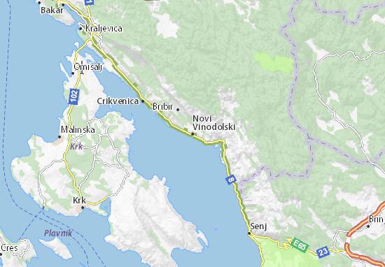 Novi Vinodolski Map