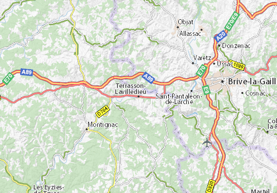 Carte-Plan Terrasson-Lavilledieu