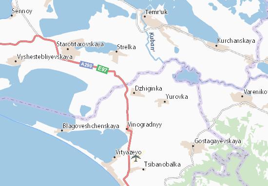 Carte-Plan Dzhiginka