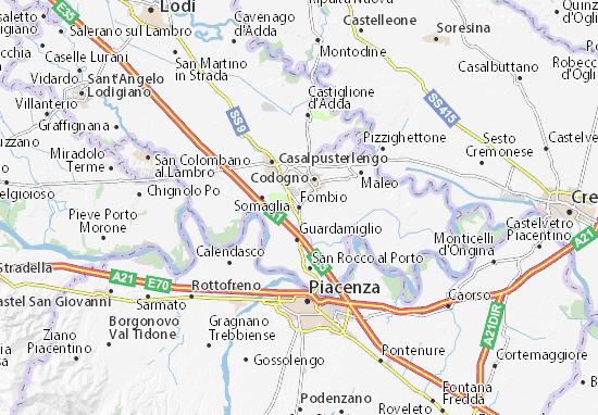 Karte Stadtplan Fombio