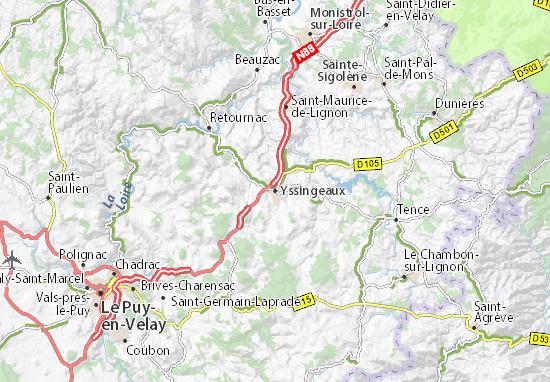 Yssingeaux Map