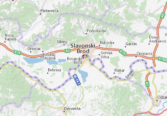 Kaart Plattegrond Bosanski Brod