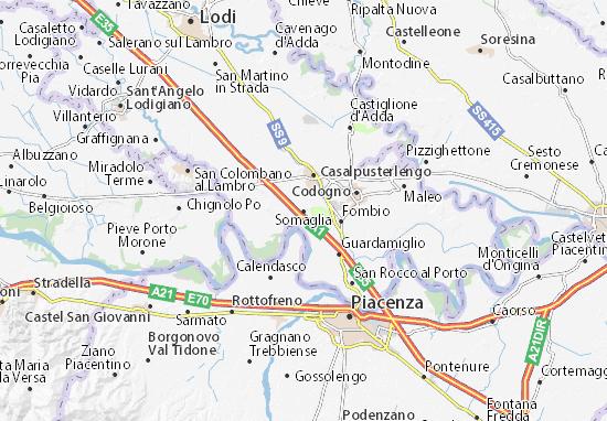 Karte Stadtplan Somaglia