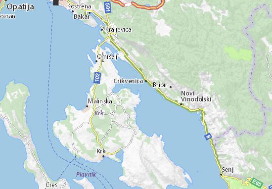 Cartina Krk.Mappa Silo Cartina Silo Viamichelin