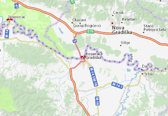 Mapa Plano Bosanska Gradiška