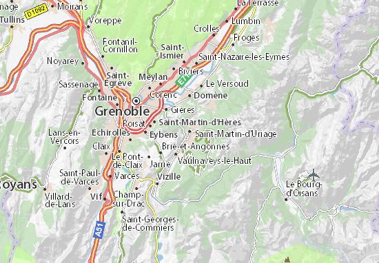 Kaart Plattegrond Saint-Martin-d'Uriage