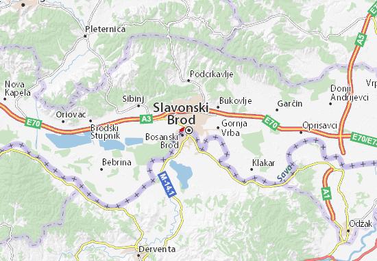 Kaart Plattegrond Slavonski Brod