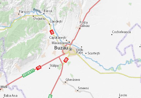Kaart Plattegrond Buzău