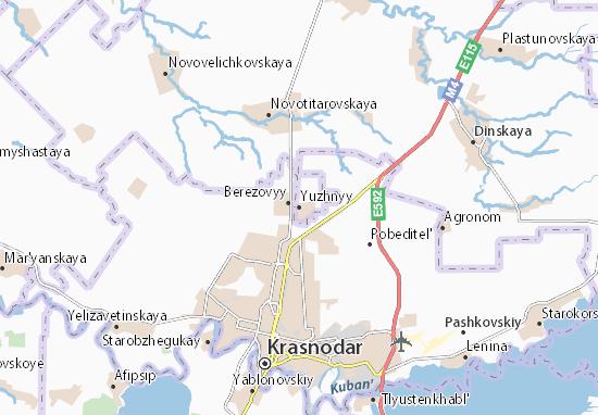 Kaart Plattegrond Yuzhnyy