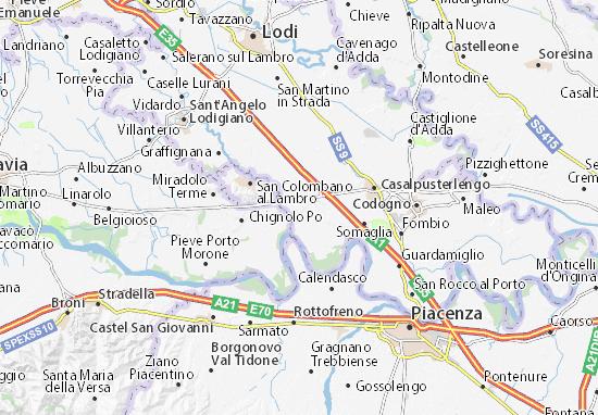 Karte Stadtplan Orio Litta