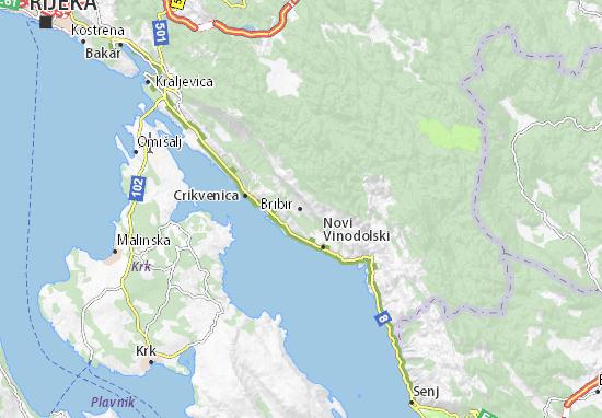 Bribir Map