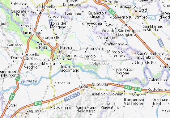 Linarolo Map