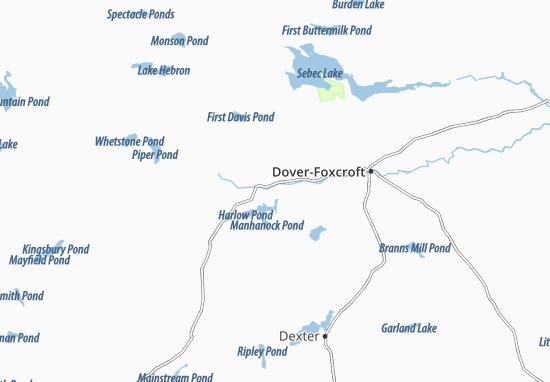 Kaart Plattegrond Sangerville