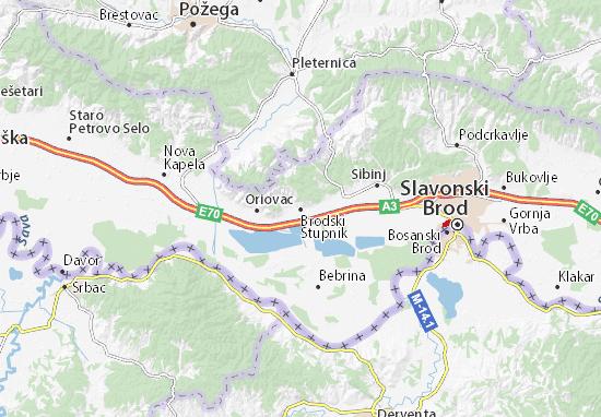 Mappe-Piantine Brodski Stupnik