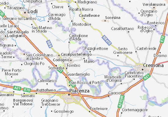 Karte Stadtplan Maleo