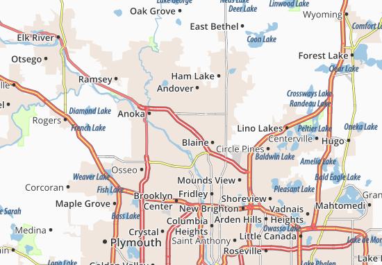 Coon Rapids Map