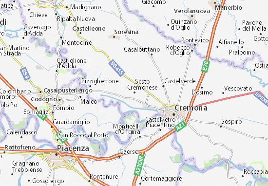 Karte Stadtplan Sesto ed Uniti