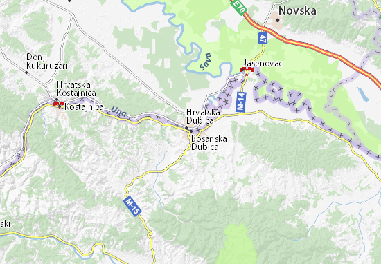 Mapa Plano Bosanska Dubica