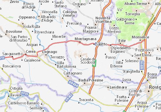 Casale di Scodosia Map