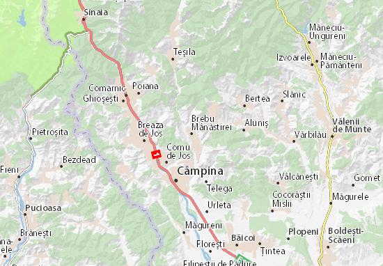 Brebu Mânăstirei Map