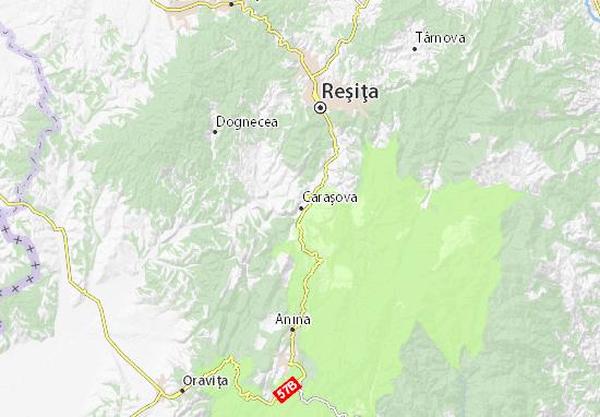 Kaart Plattegrond Caraşova
